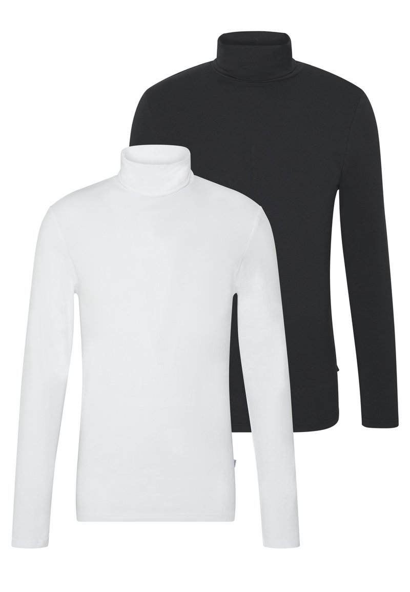 Pier One - 2 PACK - Long sleeved top - white/black