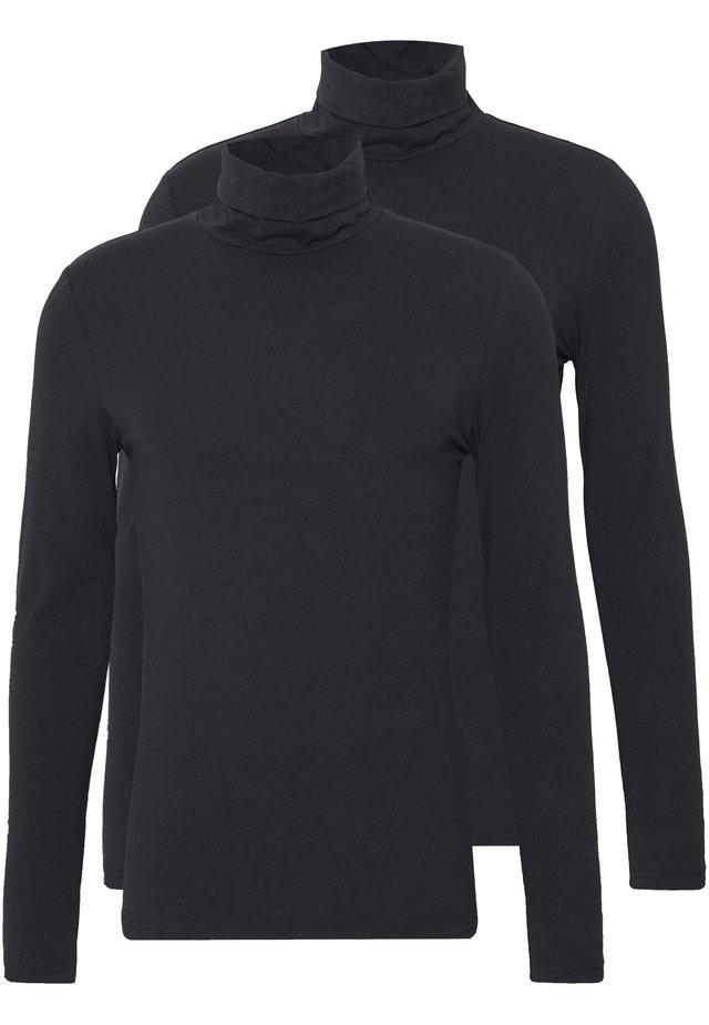 2 PACK - Bluzka z długim rękawem - black