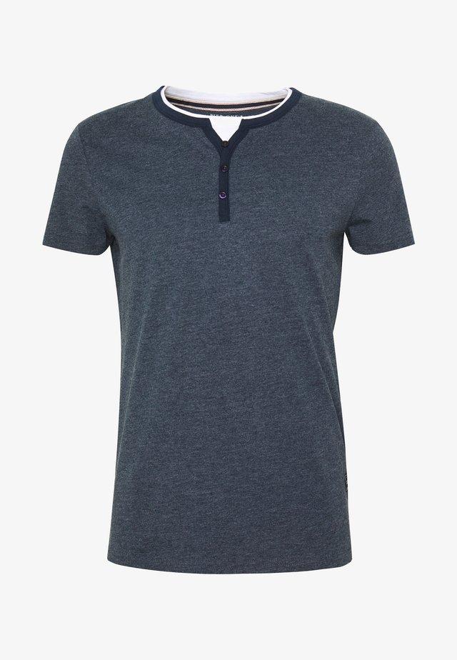 Basic T-shirt - mottled dark blue