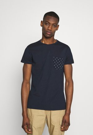Print T-shirt - dark blue