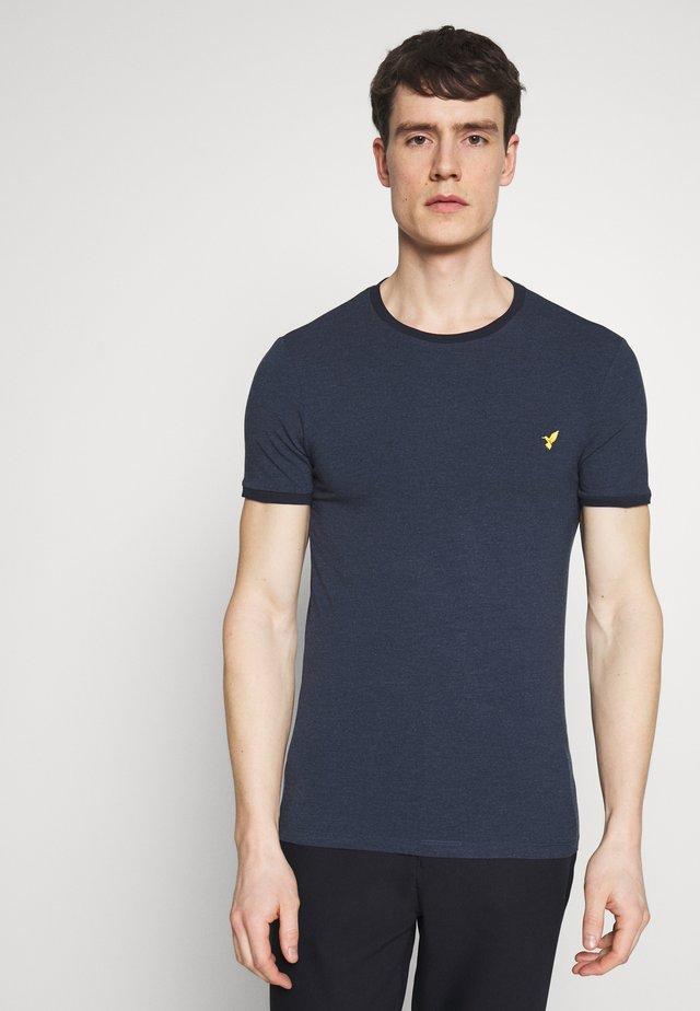 Jednoduché triko - mottled blue