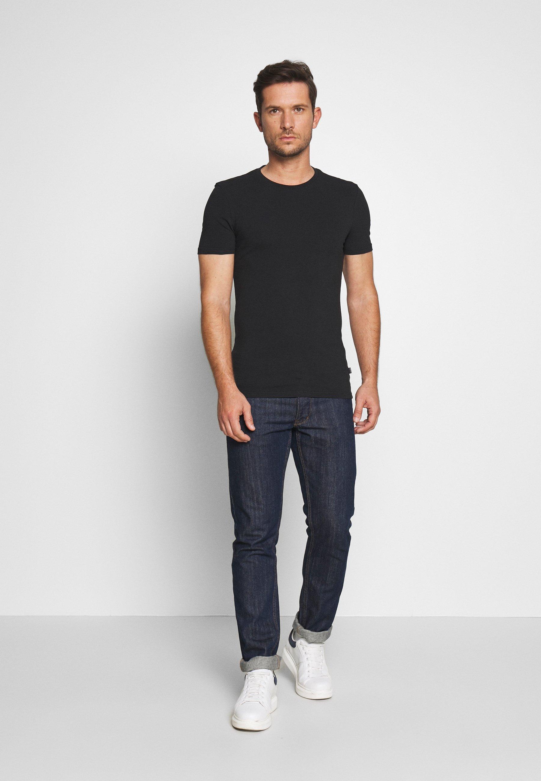 Pier One 2 PACK - T-shirt basic - oliv/black