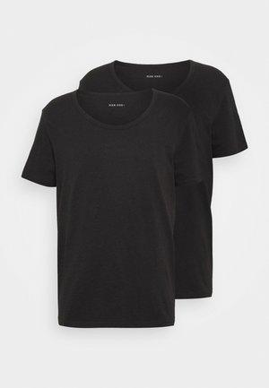 2 PACK  - T-shirt basic - anthracite/black