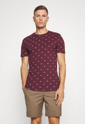 Print T-shirt - bordeaux