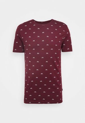 T-shirt con stampa - bordeaux