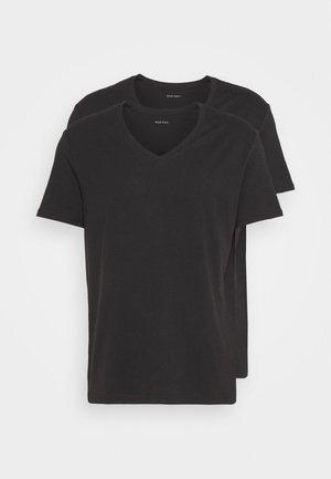 2PACK - Basic T-shirt - anthracite/black