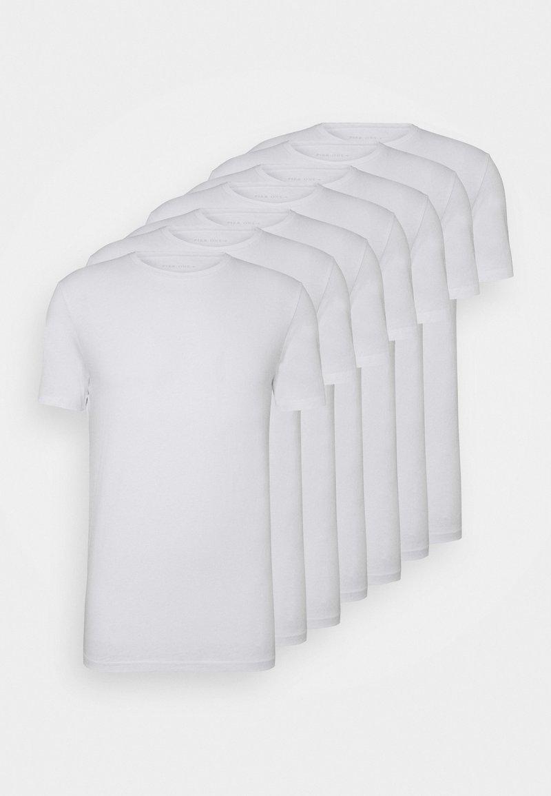 Pier One - 7 PACK - Basic T-shirt - white