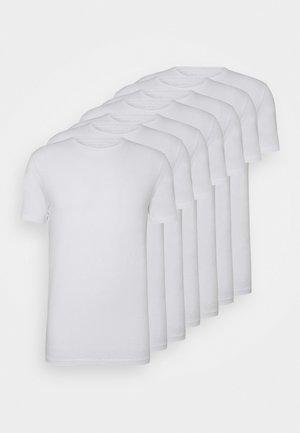 7 PACK - T-shirt - bas - 001 - white