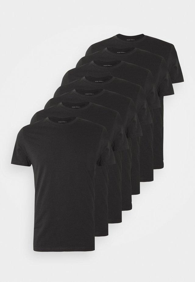 7 PACK - T-shirt basic - black