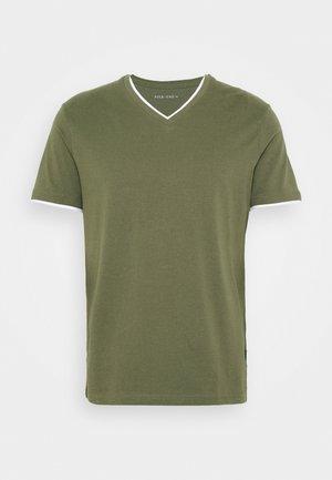 Basic T-shirt - oliv