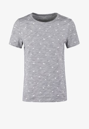 Print T-shirt - dark blue melange