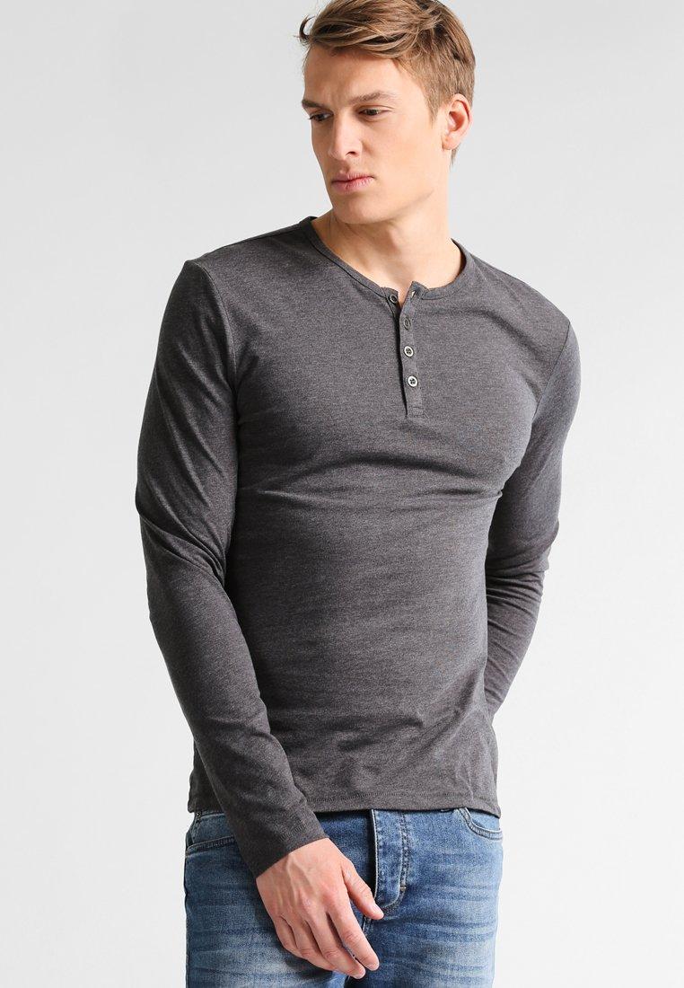 Pier One - Maglietta a manica lunga - dark grey melange