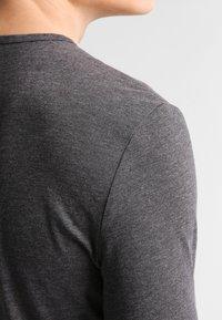 Pier One - Maglietta a manica lunga - dark grey melange - 4