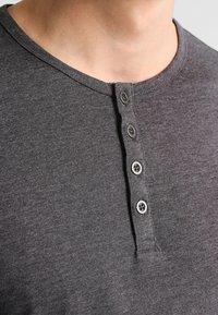 Pier One - Maglietta a manica lunga - dark grey melange - 3