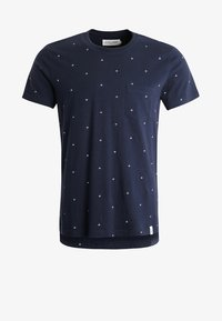 Pier One - T-shirt med print - navy - 5