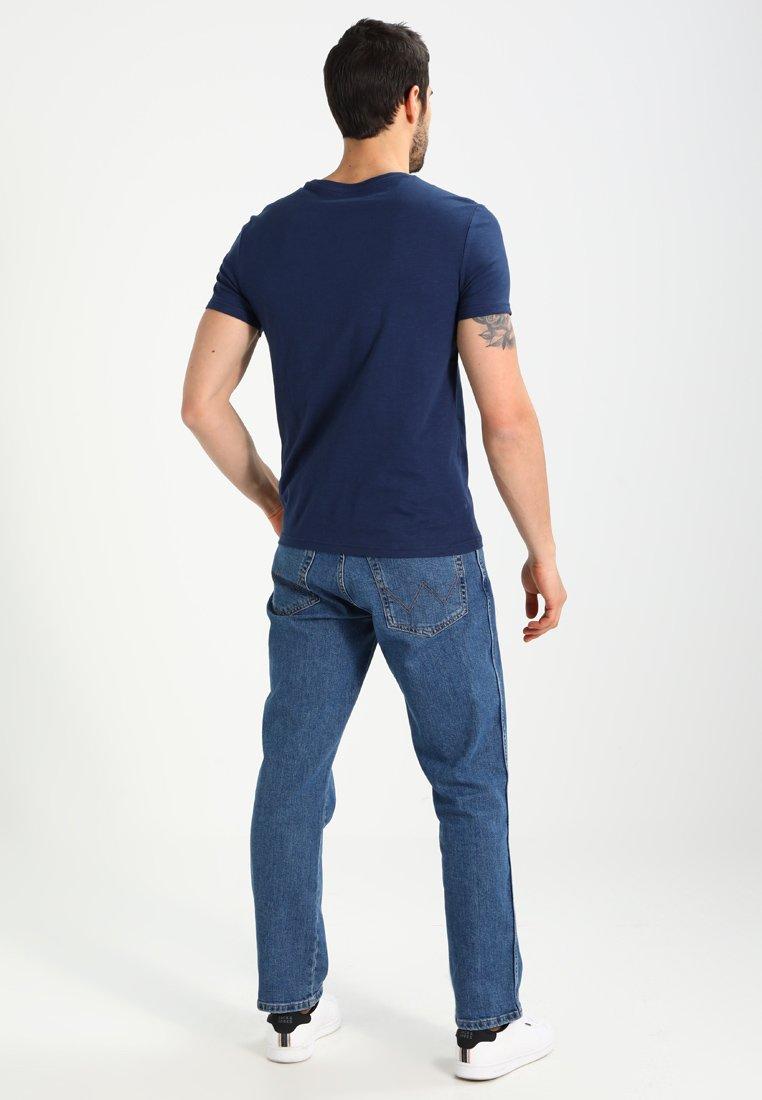 Pier One T-shirt Imprimé - Dark Blue/white