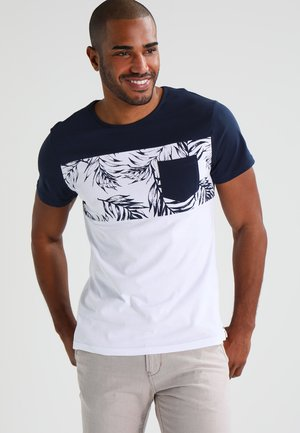 Camiseta estampada - navy/white