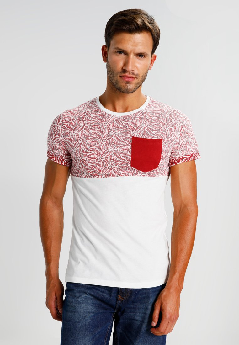 Pier One - T-shirt con stampa - red