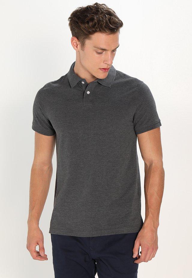 Koszulka polo - dark grey melange