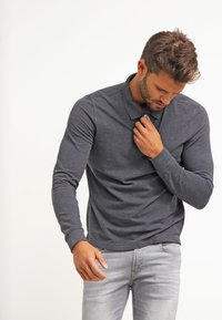 Pier One - Poloshirt - dark grey melange - 0