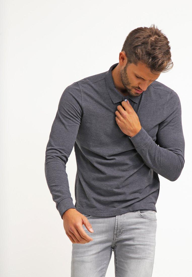 Pier One - Poloskjorter - dark grey melange