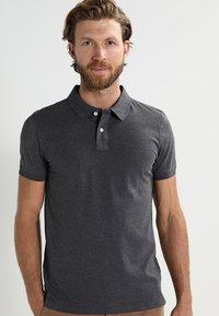 Pier One - Polo shirt - dark grey melange - 0