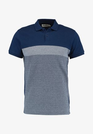 Poloshirt - dark blue/mottled grey