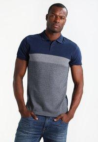 Pier One - Polo shirt - dark blue/mottled grey - 0