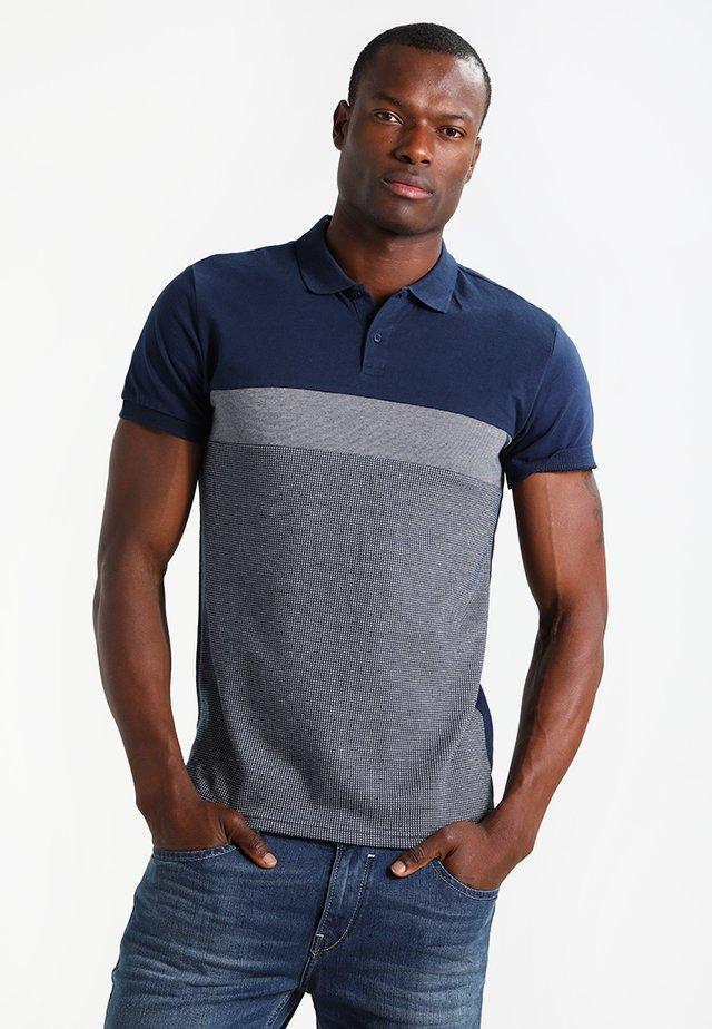 Poloshirt - dark blue/mottled grey