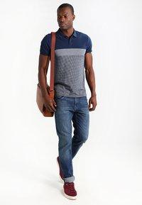 Pier One - Polo shirt - dark blue/mottled grey - 1
