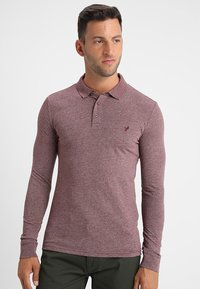 Pier One - Polo shirt - mottled bordeaux - 0