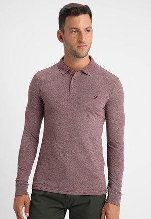 Poloshirt - mottled bordeaux