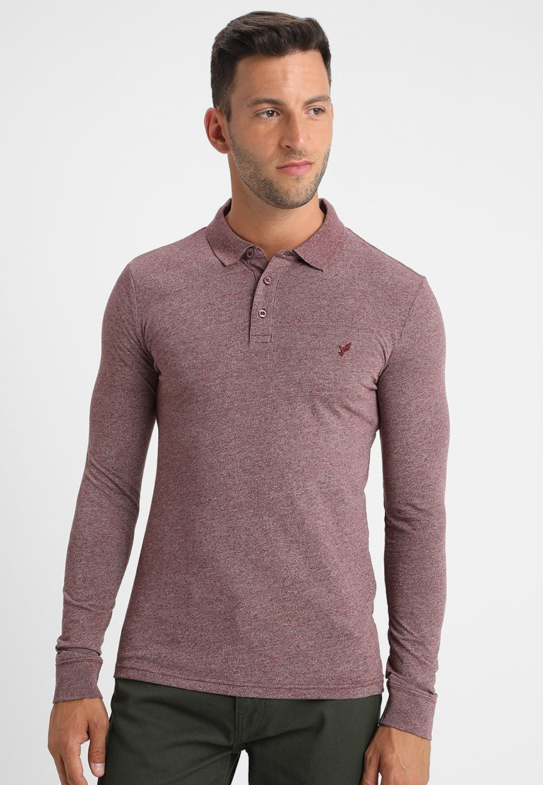 Pier One - Polo shirt - mottled bordeaux
