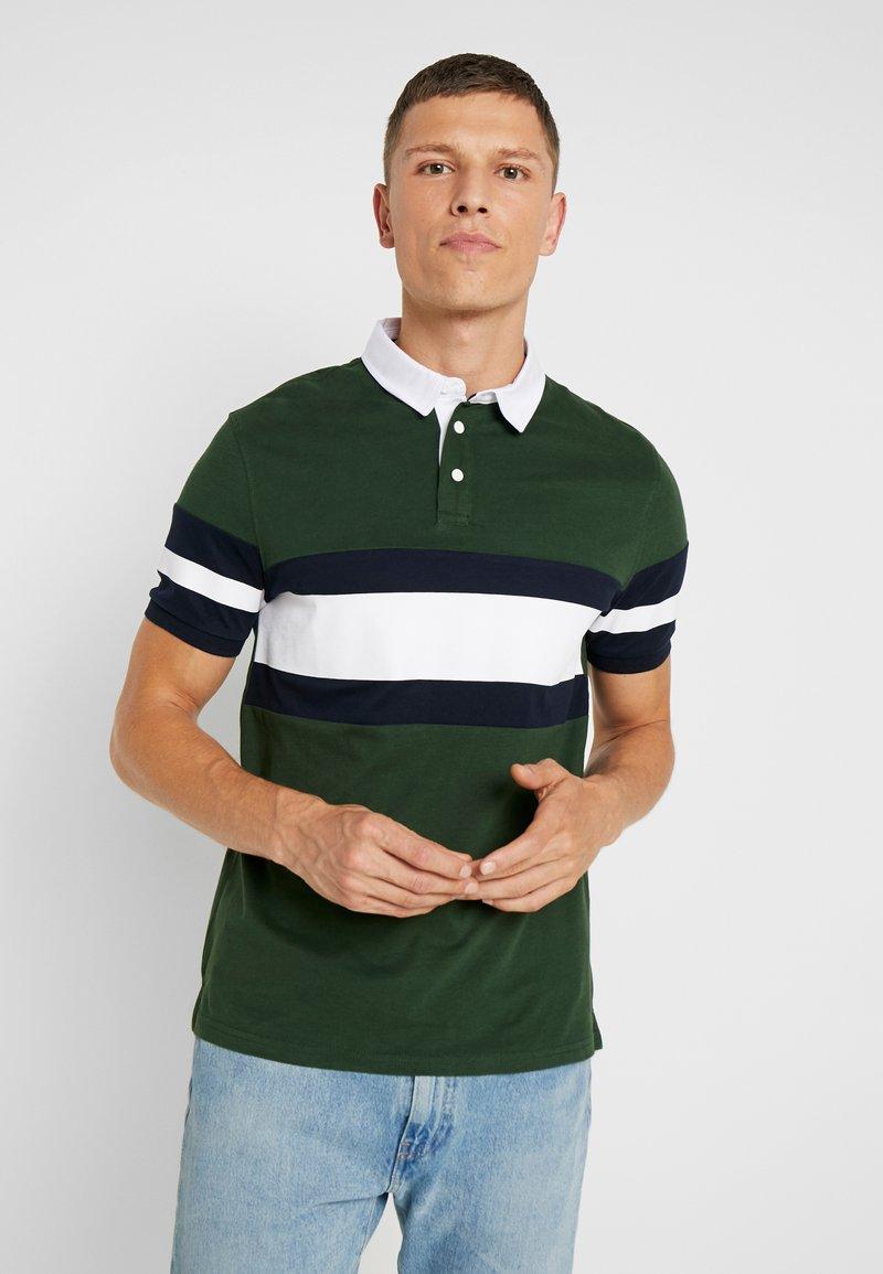 Pier One - Polo shirt - green/white