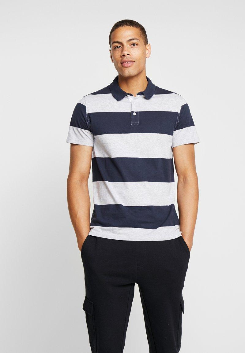Pier One - Poloshirt - dark blue/light grey