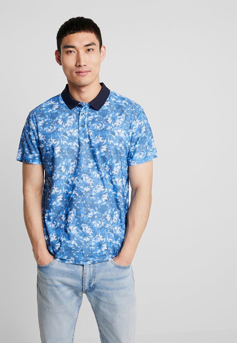 Pier One - FLORAL - Polo shirt - dark blue
