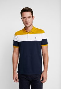 Pier One - Polo - dark blue/mustard - 0