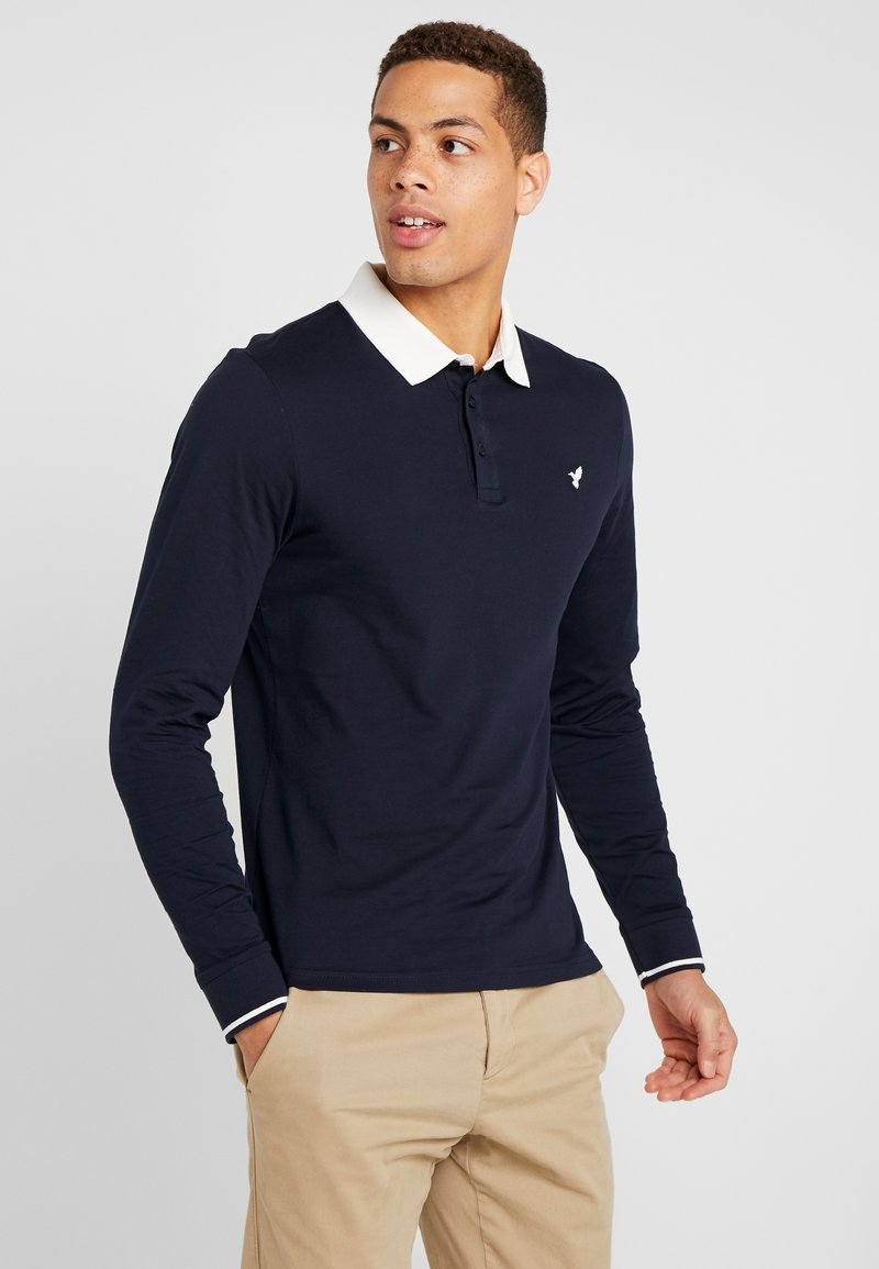 Pier One - MUSCLE FIT - Polo shirt - dark blue