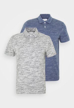 2 PACK - Polo shirt - light grey/light blue