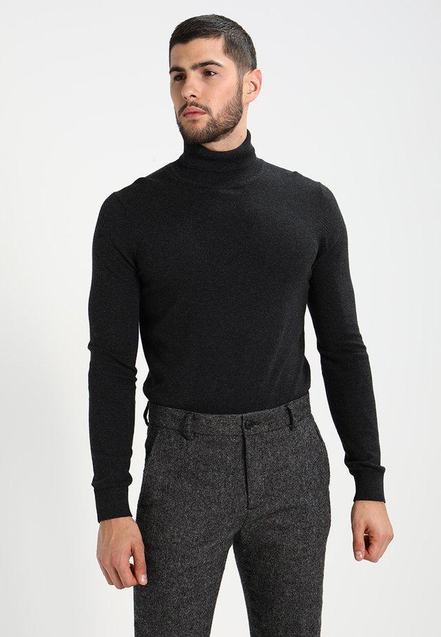Strickpullover - mottled dark grey