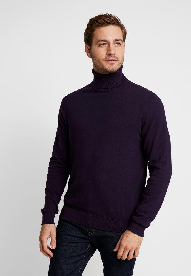 Strikkegenser - dark purple