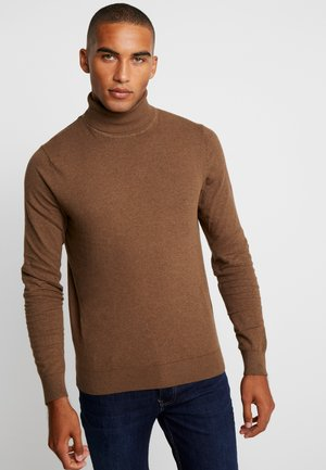 Strikpullover /Striktrøjer - mottled brown