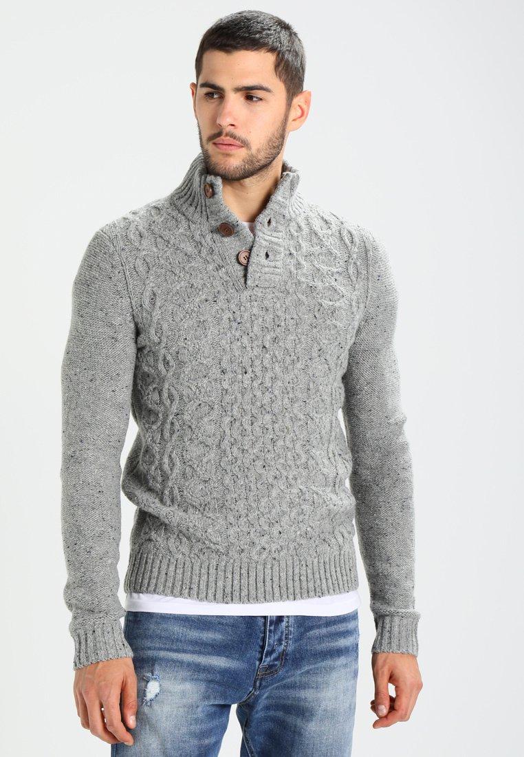 Pier One - Stickad tröja - mottled grey