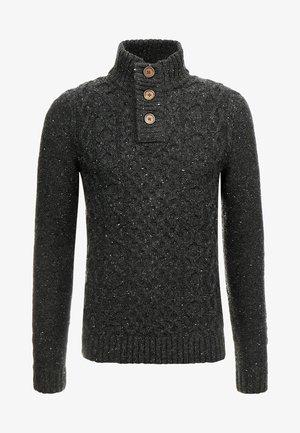 Pullover - mottled dark grey