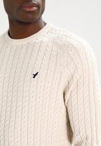 Pier One - Stickad tröja - off-white - 3