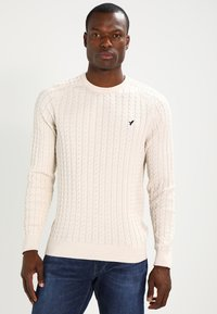 Pier One - Stickad tröja - off-white - 0