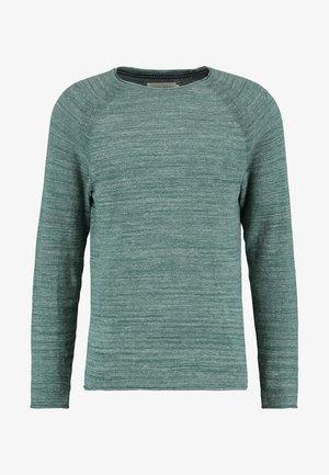 Pullover - mottled green