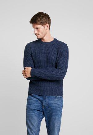 Jersey de punto - mottled dark blue