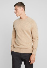 Pier One - Stickad tröja - camel - 0