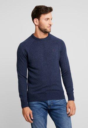 Stickad tröja - mottled dark blue